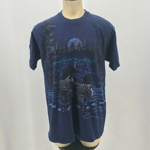 VTG Fruit Of The Loom Loon Nature T Shirt Single S